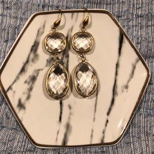 NWOT Crystal Drop Earrings